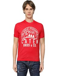 Dsquared Caten Printed Cotton Jersey T Shirt