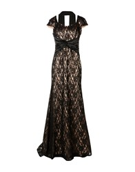 Musani Couture Long Dresses Black
