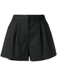 Boutique Moschino Flared Pleated Shorts Black