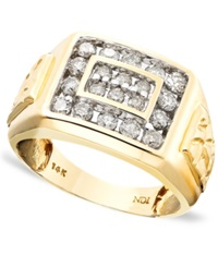 Macy's Men's 14K Gold Ring Diamond 1 Ct. T.W.