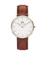 Daniel Wellington St. Andrews Leather Strap Watch Brown