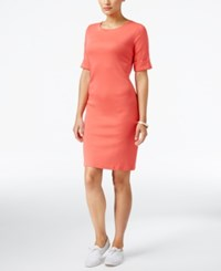 Karen Scott T Shirt Dress Only At Macy's Coral Tile
