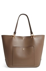 Sole Society Fronto Faux Leather Tote Beige Taupe
