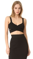 Cushnie Et Ochs Crossover Bra Top Black