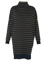 Whistles Stripe Funnel Neck Tunic Blue Multi