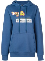 Marc Jacobs Scratch And Win Hoodie Blue
