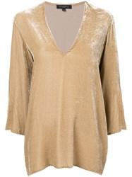 Antonelli V Neck Blouse Nude And Neutrals