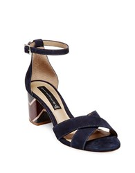 Steve Madden Voomme Nubuck Leather Dress Sandals Navy