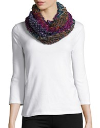 Joolay Marled Knit Infinity Scarf Multi Colored