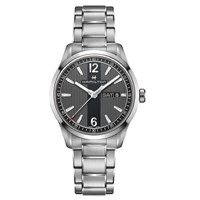 Hamilton H43311135 Men's Broadway Day Date Bracelet Strap Watch Silver Black