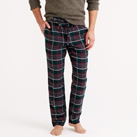 J.Crew Flannel Pajama Pant In Warm Spruce Plaid