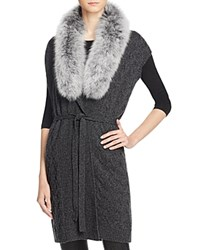 Magaschoni Cashmere And Fur Vest Charcoal