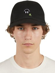 Raf Simons Embroidered Cotton Canvas Baseball Hat Black