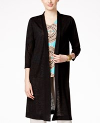 Alfani Solid Duster Cardigan Only At Macy's Deep Black