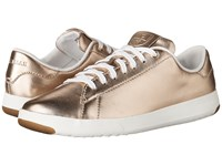 Cole Haan Grandpro Tennis Metallic Rose Gold Optic White Lace Up Casual Shoes