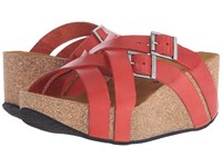 Eric Michael Joan Red Women's Wedge Shoes