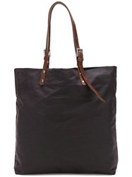 Ally Capellino Natalie Waxed Tote Brown