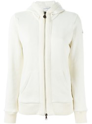 Moncler Ribbed Trim Sweatshirt Nude And Neutrals