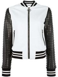 Philipp Plein 25 Bomber Jacket White