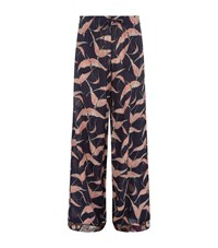 Valentino Bird Print Palazzo Pants Female Navy