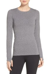 Alo Yoga Women's 'Exhale' Seamless Mesh Detail Crewneck Top