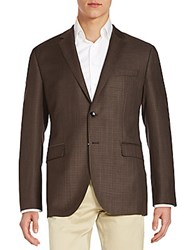Hugo Boss Keys Virgin Wool Blazer Medium Brown