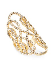 Punch Filigree Pave Ring Gold