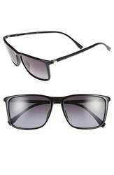 Boss Men's 57Mm Retro Sunglasses Shiny Black Grey Gradient Shiny Black Grey Gradient