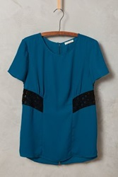 Anthropologie Atha Shell Blue Green
