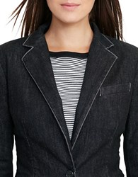Lauren Ralph Lauren Single Button Long Sleeve Blazer Asphalt