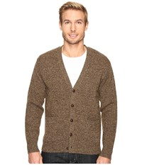 Pendleton Shetland Cardigan Coffee Heather Men's Sweater Brown