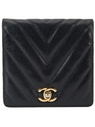 Chanel Vintage V Stitch Bum Bag Black