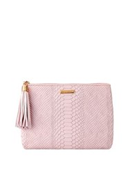 Gigi New York All In One Leather Clutch Petal Pink
