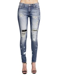 Cult Of Individuality Gypsy High Rise Distressed Jeans Blue
