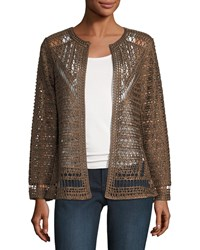 Berek Crochet Topper Jacket Plus Size Chocolate