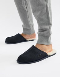 Ugg Scuff Slippers In Navy Suede