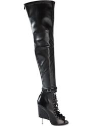 Givenchy Lace Up Thigh High Boots