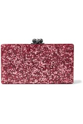 Edie Parker Jean Glittered Acrylic Clutch Bright Pink