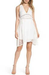 Foxiedox 'S Babette Lace Inset Party Dress White