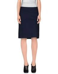 Alviero Martini 1A Classe Knee Length Skirts Dark Blue