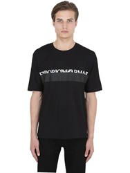Emporio Armani Logo Embossed Cotton Jersey T Shirt