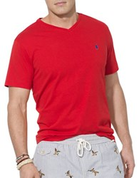 Polo Big And Tall Jersey V Neck T Shirt Red