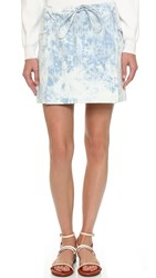 Thakoon Miniskirt With Lace Detail Light Blue