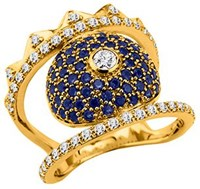 Kenzo 23692010205 Gold Plated And Cz Ring Gold Metallic