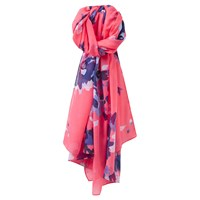 Joules Wensley Floral Scarf Coral Multi