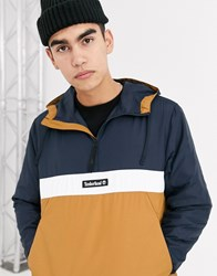 Timberland Ycc Funnel Neck Pull Over Jacket Blue