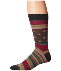 Etro Bold Striped Socks Red Men's Crew Cut Socks Shoes