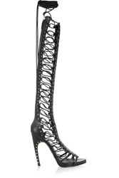 Emilio Pucci Studded Leather Sandals Black