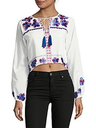 Kas New York Embroidered Top White