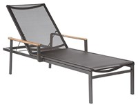 Barlow Tyrie Aura Sun Lounger Graphite 01 Frame Charcoal 500 Sling None Black